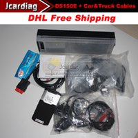 Cheap 2014R2 Promotion price ds150e CDP Plus Pro Diagnostic tool with Bluetooth + truck cables + car cable With Dhl Free shipping