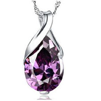Wholesale Silver plated pendants Crystal pendants Jewelry WH