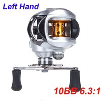 Wholesale New Arrival BB Left Hand Bait Casting Fishing Reel Ball Bearings One way Clutch High Speed