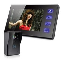Wholesale 7 quot TFT Wired Video Doorbell Intercom Door phone IR Camera Monitor Touch Keys
