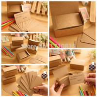 Wholesale NEW Kraft Paper Card Message Memo Wedding Party Gift Thank You Cards Label Bookmarks Papel Kraft Blanco Brown White order lt no