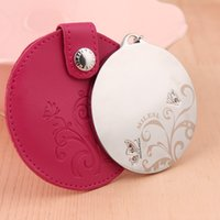 Wholesale Your creative metal cosmetic mirror South Korea s lovely lady princess circular double holster small portable mirror mirror