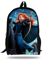archery girls - 16 inch ry Brave Backpack Kids School Bags For Girls Children Cartoon Bag Princess With Bows and Arrows Mochila Infantil