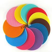 assorted mat - Silicone Round Non slip Heat Resistant Mat Coaster Cushion Placemat Pot Holder Assorted colors New Durable