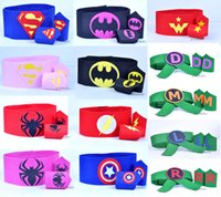Wholesale superman tmnt batman spiderman Felt Wrilt for children kids costume st Cuffs Belt Superhero Cuffs Superhero Be
