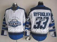 ahl hockey - 2016 new Can mix order AHL Winnipeg St John s IceCaps Dustin Byfuglien white hockey jerseys high quality gt shipped b