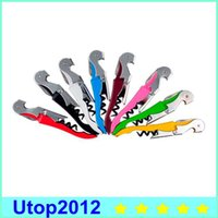 Wholesale 30 OFF Waiter Wine Tool Bottle Opener Sea Horse Corkscrew Knife Pulltap Double Hinged Corkscrew
