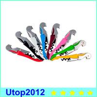 Wholesale Waiter Wine Tool Bottle Opener Sea Horse Corkscrew Knife Pulltap Double Hinged Corkscrew