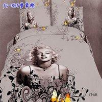 Twill monroe bedding - new dropship cotton D fashion Monroe printed flat sheet set duvet cover set bedding set
