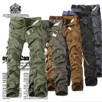 Wholesale Fatigue Tactical Solid Military Army Combat Cargo Pants Trousers Casual