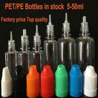 Wholesale 5 ML PET Plastic Bottle With Needle Cap Empty Dropper Bottles Ecig Child Proof plastic dropper bottle E_Cigarette bottle
