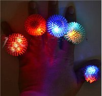 Wholesale LED Toys LED Ring Glowing finger lamp LED Finger Ring Lights Light Ring Toys Flash Beams Light Halloween Party LED Toys Wedding