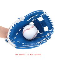 Wholesale Lightweight Adjustable Durable quot PVC Artificial Leather Softball Baseball Glove Outdoor Team Sports Gloves Left Hand Blue Y1278