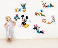 Wholesale Donald Duck Wall Stickers Vinyl Art Decals poster Home Decor Baby Kids Children Nursery Adesivo De Parede Home Decoration