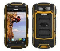 al por mayor de radio al aire libre mp3-Descubrimiento V8 teléfono celular impermeable Quad Core MTK6582 3G GPS 4.0inch pantalla de 1,3 GHz de 5 megapíxeles a prueba de polvo a prueba de choques al aire libre Teléfono
