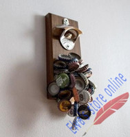 wall magnetic - New Style Update Magnetic Beer Bottle Opener and freezer Wall with Container Cap Catcher Cap catch