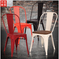 Wholesale Wrought iron chairs European outdoor metal chair chair Hotel restaurant cafe chairs