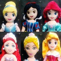 babay toys - Retail dsney princess plush Aurora ariel Cinderella snow white soft toys for babay Christmas gifts
