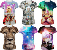 Wholesale 2016 Men s Fashion Spring and Summer D T shirt novelty casual streetwear men and women tops Short Sleeve Creative printed