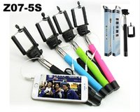 aluminum alloy prices - Factory price Z07 plus s Wire groove Monopod mini Selfie Stick cable take pole Extendable monopods Remote Shutter for iPhone IOS Andriod