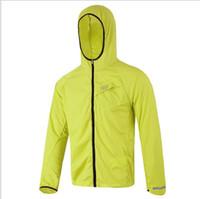Wholesale 2016 New sales Outdoor Summer Men Women Sports Running Windproof Skin Rain Jacket Cycling Jersey Shirt