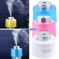 Wholesale Portable USB Water Bottle Caps Humidifier Warm Mist Humidifier Aroma Air Diffuser Steam Maker ml H Mist New Colors