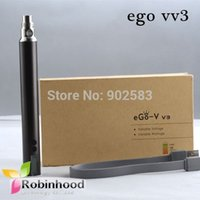 Cheap Cheap Price Smoke Battery Mod EGO V V3 Variable Voltage Vaporizer Electronic Cigarette Ego VV 3 with Free DHL Shipping