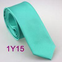 aqua necktie - BRAND NEW COACHELLA Coachella SKINNY Ties Aqua Turquoise Solid Color Microfiber Woven Neckties SLIM Narrow Business Neck Tie For MAN Wedding