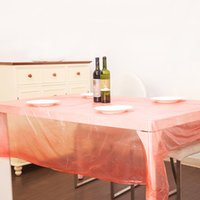 Wholesale Wholesales pc Restaurant Waterproof Disposable Tablecloth Imitation Silk One Time Table Covers JM0109 smileseller