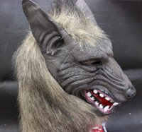 halloween latex mask - Halloween Latex masks scared werewolf Masks grey wolves head coverings creepy masks unisex suit for adult