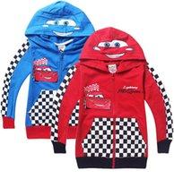 Wholesale 2015 New Pixar Cars Children Boys Autumn Hoodies Jacket Sweatershirt Clothes For Kids