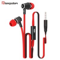Wholesale Langston Langsdom JM21 mm In ear Stereo Earphone Headphone With Mic HIFI Earphones DJ Earphones For iPhone Samrtphone MP3 MP4