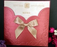 embossed wedding invitations - Red Embossed Wedding Invitations Gold Butterfly Printable Inner Sheets Envelope Wedding Invitations Card Rsvp Cards Custom Made Available