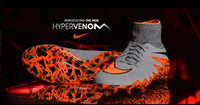 Wholesale Nike Men s Nike Hypervenom Phantom II FG Shoes Soccer Boots Cleats Laser Soccer Shoes Football Shoes Wolf Grey Total Orange Black Black