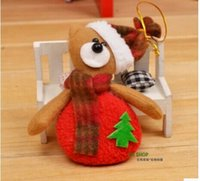 bear muppets - Hot Christmas tree decoration Supplies Ornaments hangings Pendant gift Santa Claus Fawn Snowman Bear Muppets toys