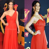 Cheap Reference Images Evening Dresses Best Sweetheart Chiffon Red Carpet Dress