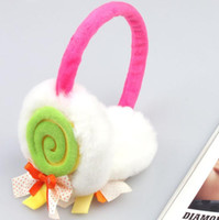 Wholesale 2015 han edition lollipop bows plush earmuffs lovely autumn winter fashion warm ear warm earmuffs