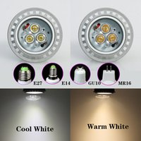 4w led mr16 - Bright CREE GU10 E27 MR16 W W W W LED COB Spotlight Bulb Lamp Warm Day White corn lamp Indoor outdoor led lighting