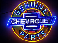 Red auto parts place - chevrolet parts genuine auto car neon sign store display beer bar pub light Real Glass Tube quot
