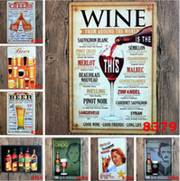 tin crafts - New Arrive Wine from around the world tin signs home decor House Cafe Bar iron painting Metal Craft gift