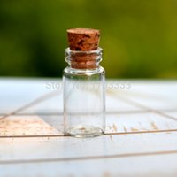 Wholesale Small Glass Bottle With Wood Cork ml Mini Glass Bottle