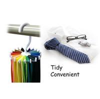 Wholesale Adjustable Rotating Hook Neck Ties Organizer Men Tie Rack Hanger Holder Brand New Good Quality Hot Sales