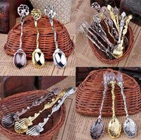 Wholesale 3PCS New Fashion Exquisite Retro Palace Style Coffee Spoon Tea Ice Cream Scoop