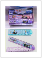 Wholesale Frozen Folding Ruler Elsa Anna Cartoon Ruler Kids Children CM Folding Ruler Students Gift Student Stationery