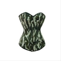 army camouflage lingerie - Women body Shaper Camouflage Overbust Corset Sexy Lingerie Bustier Tops Underwear slimming belt