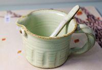 white ceramic mug - Lastest Design Personality Ceramic Couple Coffee Cup Mugs Cute Blue White Green Cups Creative Ceramic Gift