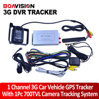 Wholesale New Arrival G Car Vehicle GPS Tracker With DVR UMTS GPRS GPS GSM Free Web Platform One CCTV Camera With MHz Frequency