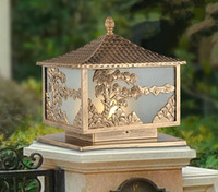 Wholesale Villa Garden column head wall light square the door pillar lamp outdoor lighting Size S cm BT189