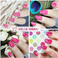 Wholesale Fashion op Nail Polish Lacquer Candy Color Easy Day Enamel Polish Nail Art Decoration Nails Nail Lacquer Nail Art Salon Gel colors