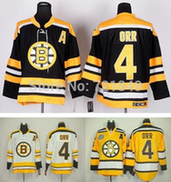 al factory - factory price Cheap Boston Bruins Bobby Orr CCM Vintage Ice Hockey Jerseys black yellow white throwback Jersey al